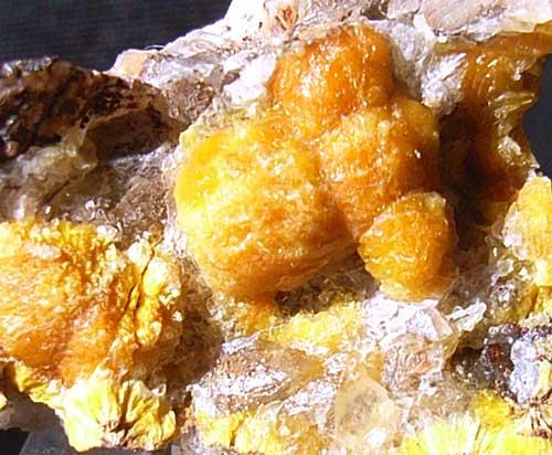 Boltwoodite specimen